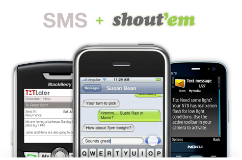 Send an SMS with Shout'Em