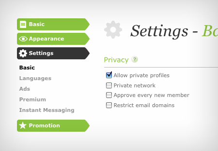 Your privacy settings